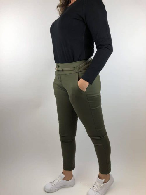 Chino Megan Chicetjeune groen - Broek Label-L