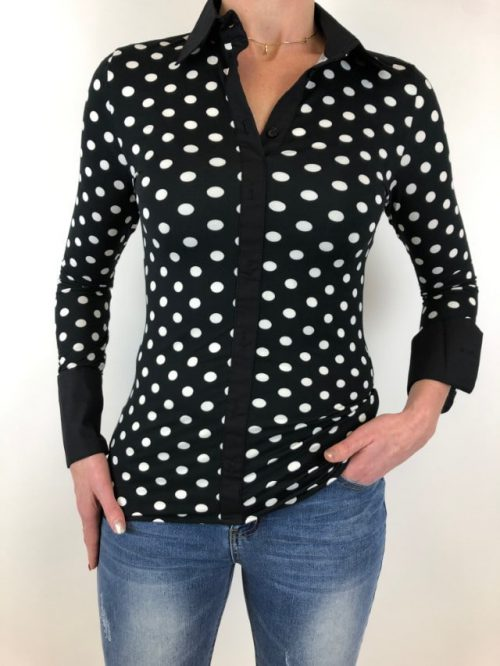 Blouse Dots Rebelz-blouses Label-L