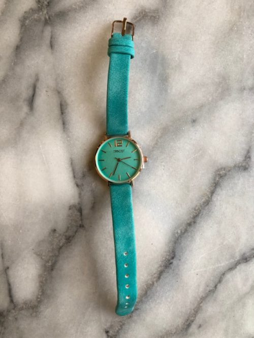 Horloge Leather Green Ernest-sieraden Label-L